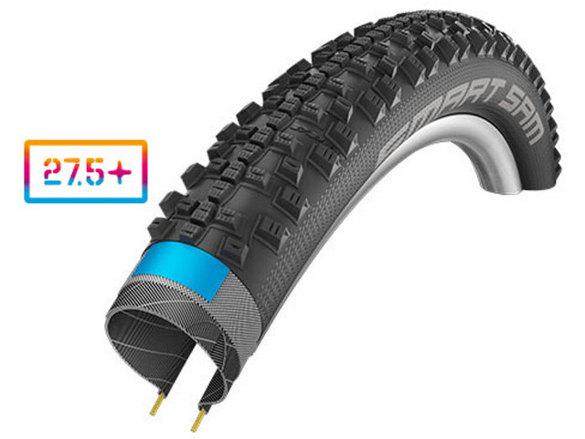 "SCHWALBE Smart Sam Wired-on Tire 27,5"" Addix Plus Performance SnakeSkin Greeng, black"